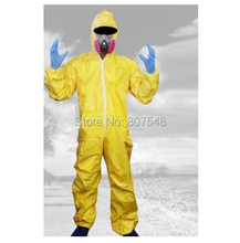 Breaking Bad Walter White Jumpsuit Carnival Cosplay Costumes For Men/Women with Half Mask Gloves
