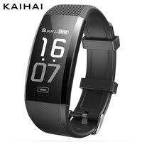 KAIHAI H7 sportu inteligentny Krokomierz fitness tracker zegarek tętna Monitor ciśnienia krwi tlenu big bransoletka telefon Przypomnienie saat