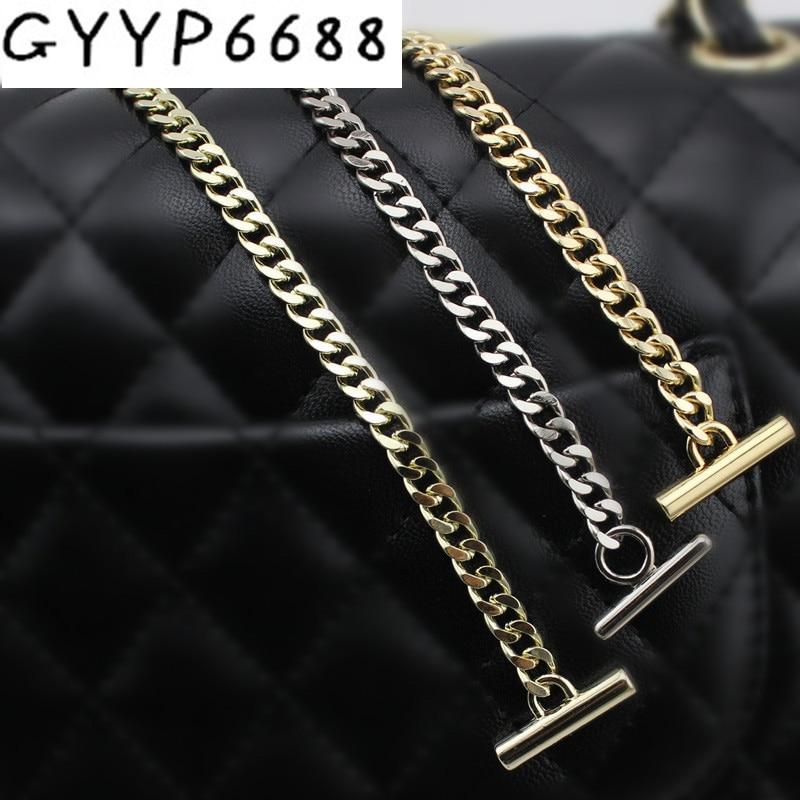 120cm 130cm 3 Colors Width 7mm Chains Four Face Fashion Chain Making Bag Handbag Chain Removable Long Chain Metal Strap