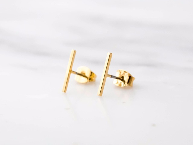 Bar Earrings Minimal Earrings Minimalist Earrings Line Stud Earrings ER112.jpg 640x640 - Bar Earrings / Minimal Earrings / Minimalist Earrings / Line Stud Earrings ER112