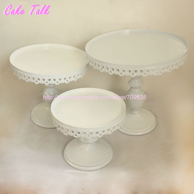 wedding cake stands to buy aliexpress buy set of 3 white wedding cake stand 8767