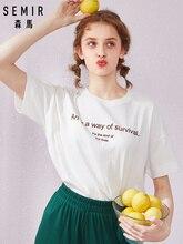 SEMIR Short sleeve 2019 new t-shirt printing top tees summer round neck cotton bottoming super fire cotton women