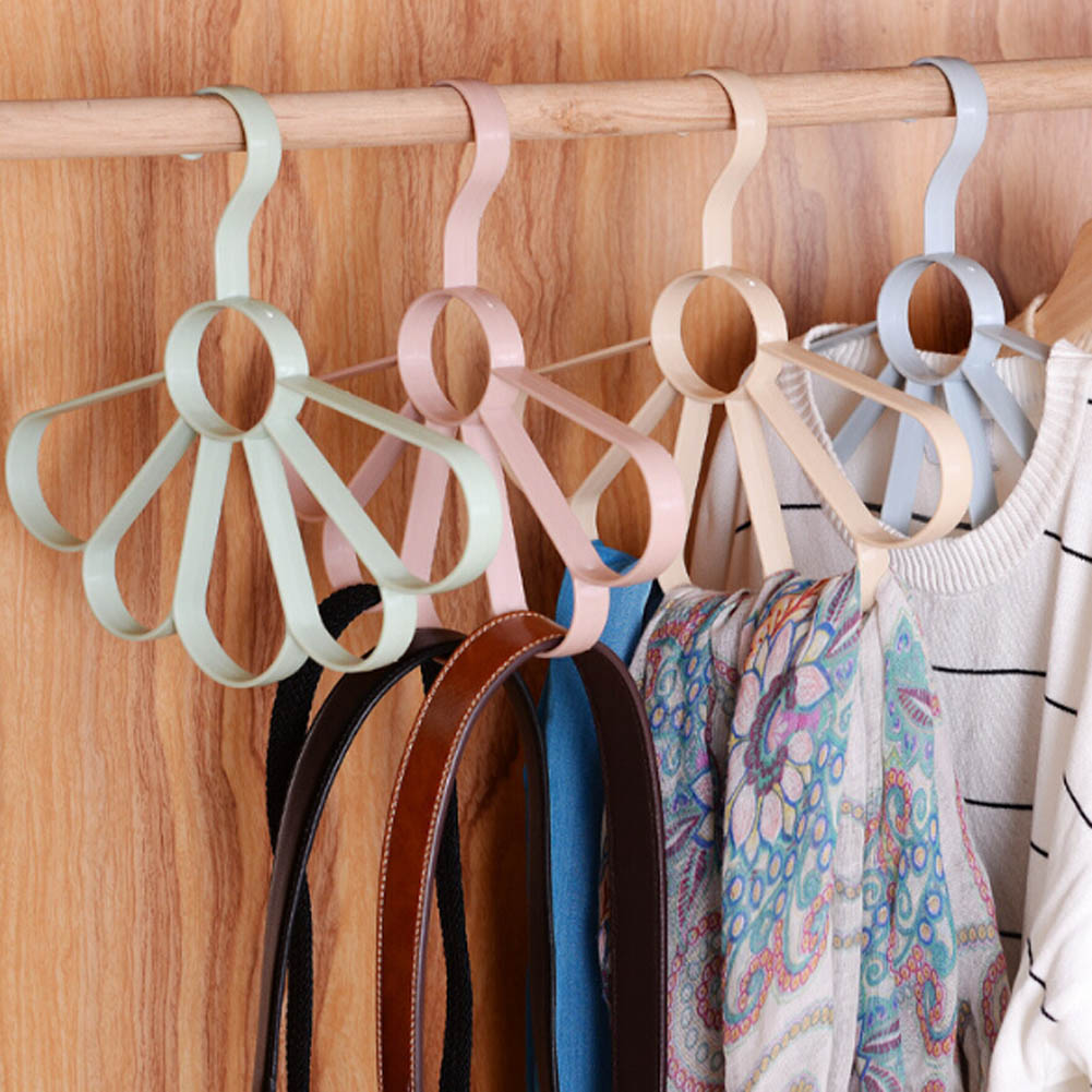 Creative Multi-functional Hangers Fan Racks Clothes Hanger Garment Tree Kids Coat Jacket Drying Rack Holes Holder