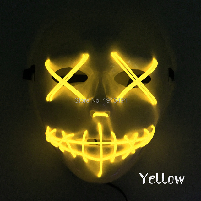 Voice Sensitive Funcy Dress Up Accessory EL Wire Bull Slit Mouth ...
