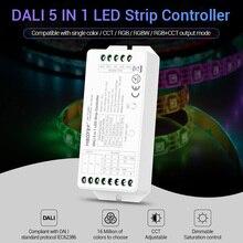 MiBOXER DC12V-24V DALI 5 IN 1 LED strip Controller DL5 15A dimmer for single color/CCT/RGB/RGBW/RGB+CCT led strip light led controller dimmer for 220v high power strip light led rgb strip controllers color change dimmer