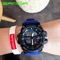 Новый Бренд SANDA Led Цифровые Часы Мужчины Спорт Военная Часы Будильник Секундомер Способ Роскошными мужская Кварцевые Часы Световой Часы