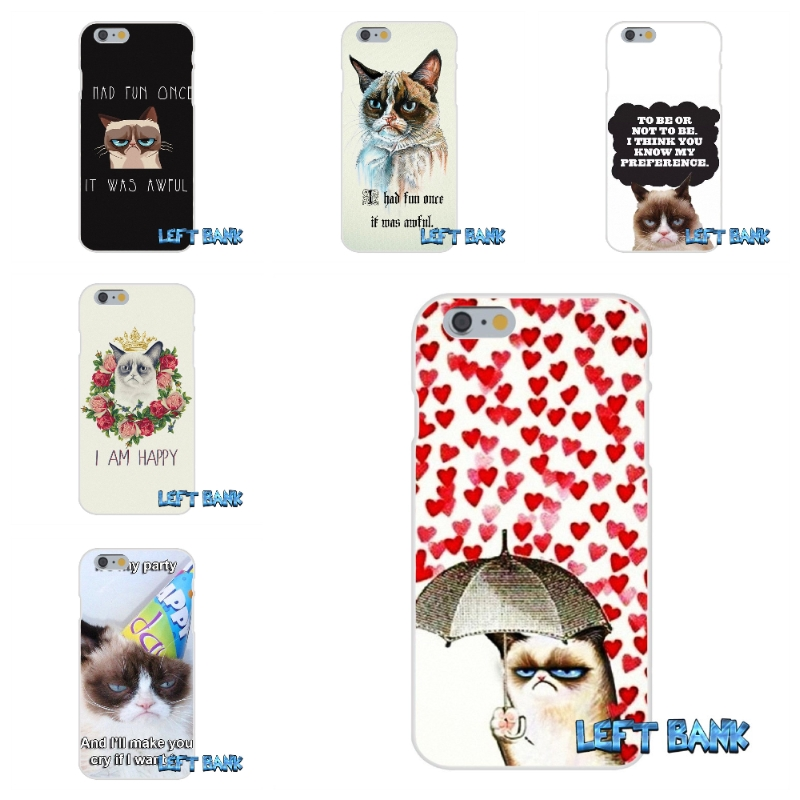 Grumpy Cat I Had Fun It Was Awful Soft Silicone TPU Transparent Cover Case For iPhone 4 4S 5 5S 5C SE 6 6S 7 Plus