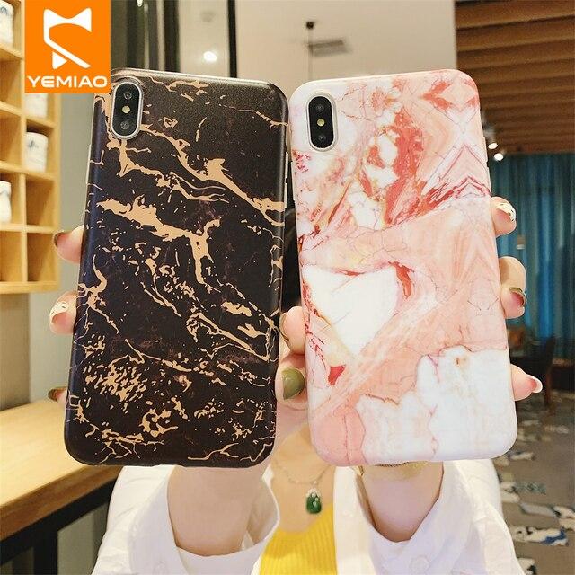 Mármore de luxo Caixa Do Telefone Para o iphone X XS Max XR 7 8 Mais Capa de Silicone Fino Clássico Cor Capa Para iPhone 6 S Plus 10 6 s Caso