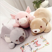 купить New Style Cute Cartoon Pig Bear Koala Plush Toy Stuffed Animal Doll Toys Soft Plush Pillow Children & Kids Gift по цене 1438.75 рублей