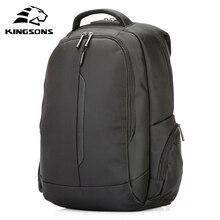 Kingsons 15.6 אינץ מחשב נייד Backpacka עמיד למים גברים נשים המוצ באיכות תלמיד רב פונקציה נגד גניבת תרמיל