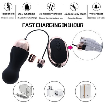 HIMALL Wireless Remote Control Vibrator Adult Sex Toy Powerful Bullet Vbrating Egg Product for Women Kegel Ball Erotic Massage 3