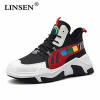 Men's Velveting Antiskid Wear Resistance Thick Bottom Sports warm shoes Spring autumn man Internal heighten Daddy shoes Zapato