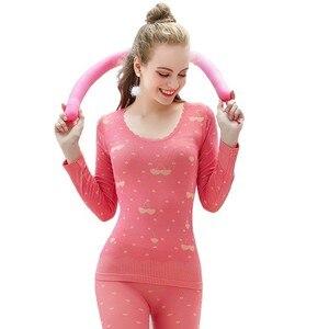 Термобелье BEFORW женское, с милым принтом, тонкое, Tmall, зимняя одежда, сексуальные длинные кальсоны, термобелье для женщин
