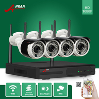 ANRAN Plug Play 1080P 4CH HD WIFI NVR 36IR Indoor Outdoor Network IP Wireless Camera Surveillance