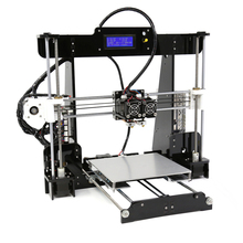 FDM Dual Extruder Prusa i3 3D Printers Kit Anet A8M Large Size Printing Platfor DIY Desktop LCD2004 3D Printer with PLA Filament 2018 flsun 3d printer large size 240 240 260mm pre assembly prusa i3 3d printer metal parts heatbed support free pla filament
