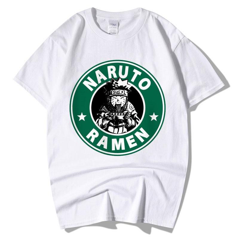 T-Shirt Men Fashion Cool O-neck  Naruto Love Ramen Print T Shirt Short Sleeve Casual Men Clothing Funny Tee