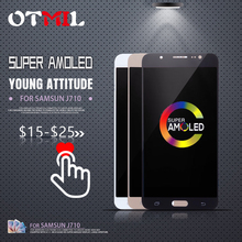 OTMIL 5.5AMOLED For SAMSUNG Galaxy J710 LCD Touch Screen with Frame J710FN J710F J710M J7 2016 Display #1
