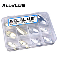 ALLBLUE New Copper Spoon Bait Metal Lure Kit 2.8g-4.2g Hard Bait Fresh Water Trout Bass Fishing Lures isca artificial leurre