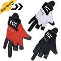 Tres o Cinco corte dedo guantes de pesca Nuevo de Calidad Superior de cuero Antideslizante Guantes de Pesca/Deportes Al Aire Libre Antideslizante guantes resistentes