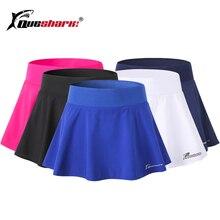 QUESHARK, женская спортивная теннисная юбка, шорты, быстросохнущая, для спортзала, фитнеса, бега, йоги, бега, бадминтона, шорты
