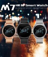Smartch M7 Смарт часы Спорт Смарт Браслет Bluetooth 4.0 гарнитуры Sleep Monitor фитнес-трекер для IOS телефона Android