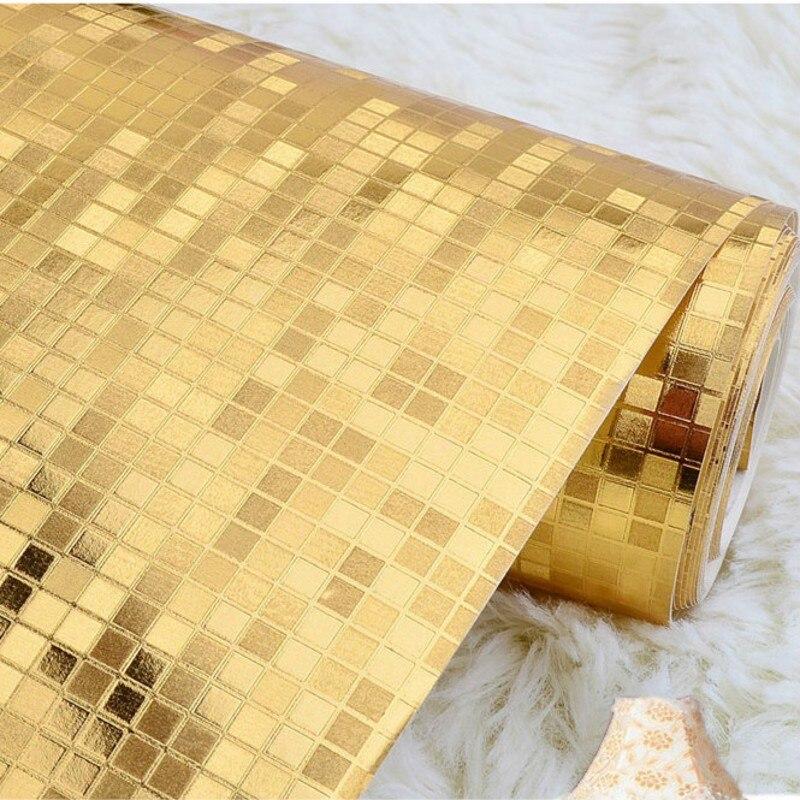Beibehang papier peint feuille d'or et d'argent KTV bar papier peint moderne perspective simulation mosaïque salon fond d'écran - 2