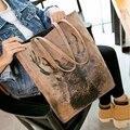 Winter 2017 elizabethans handbag big bags print fashion one shoulder deer bag picture package women's handbag