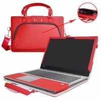 Accurately Designed Protective PU Leather Cover + Portable Carrying Bag For 15.6 Lenovo ideapad 320/330/520 series Laptop