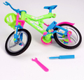 3D Puzzles Plastic DIY Handmade Simulation Removable Bicycle DIY Assembly Bike Educational Toys