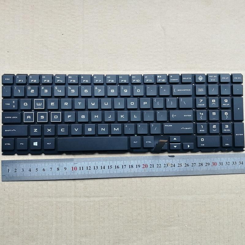 Nouveau clavier d'ordinateur portable américain rétro-éclairé pour HP IV OMEN 15-DC0007TX 15-DC noir