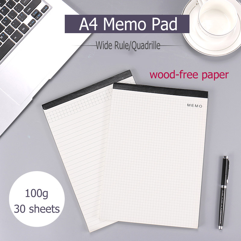 A4 ivory white memo pad for Clipboard 100g wood-free paper Legal Rule Quadrille Perforated Pads sticky paper post office notepad