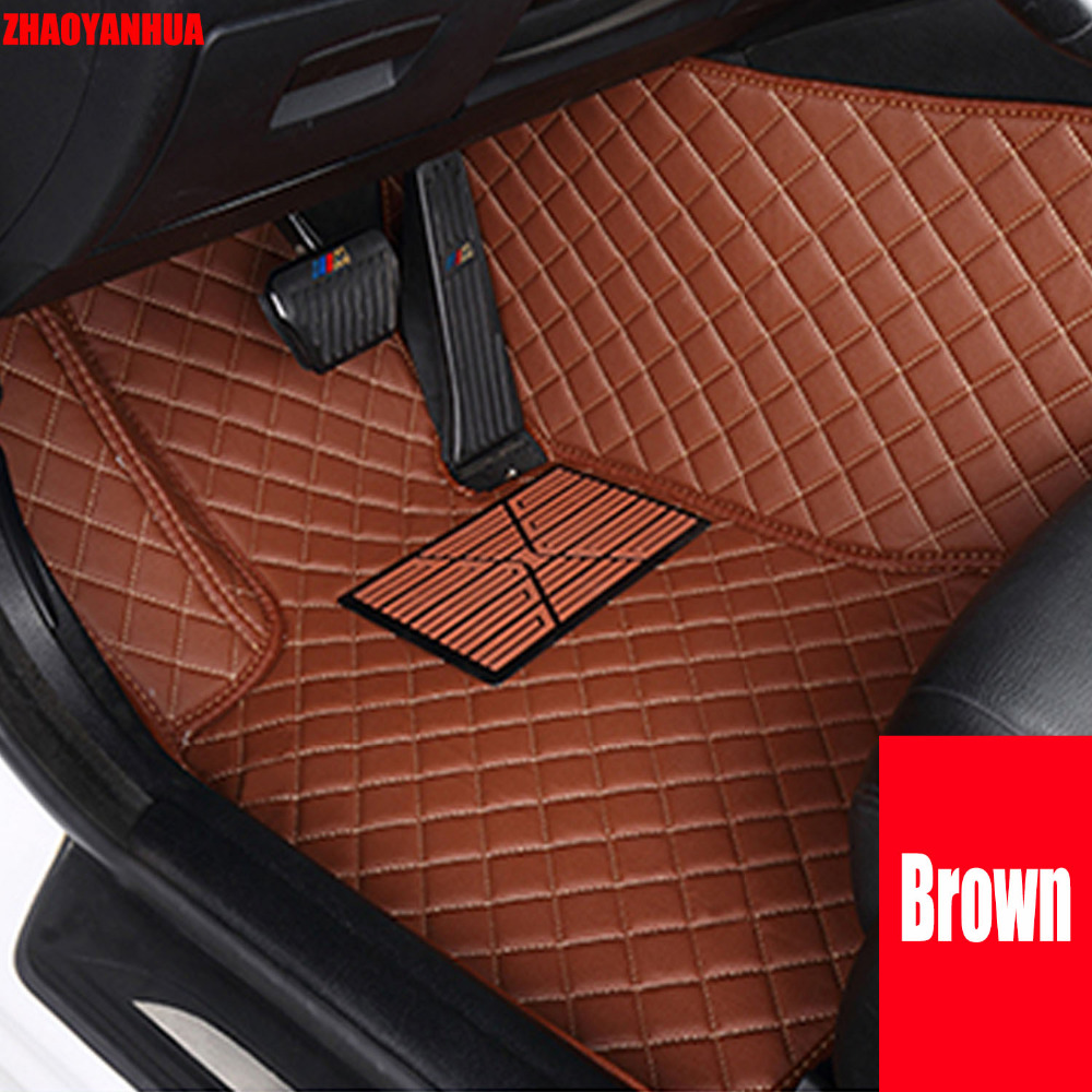 Zhaoyanhua car floor mats for bmw 5 series e39 520i 525i 530i 535i 540 526d 530d heavy duty special car styling 6d carpet liners