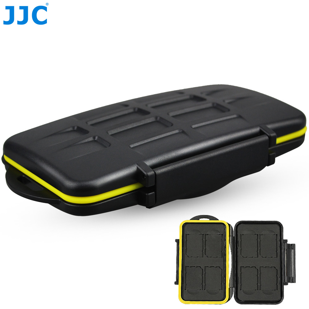 JJC Storage 8 x SD Cards Camera Memory Card Case Compact Tough Water-Resistant Box
