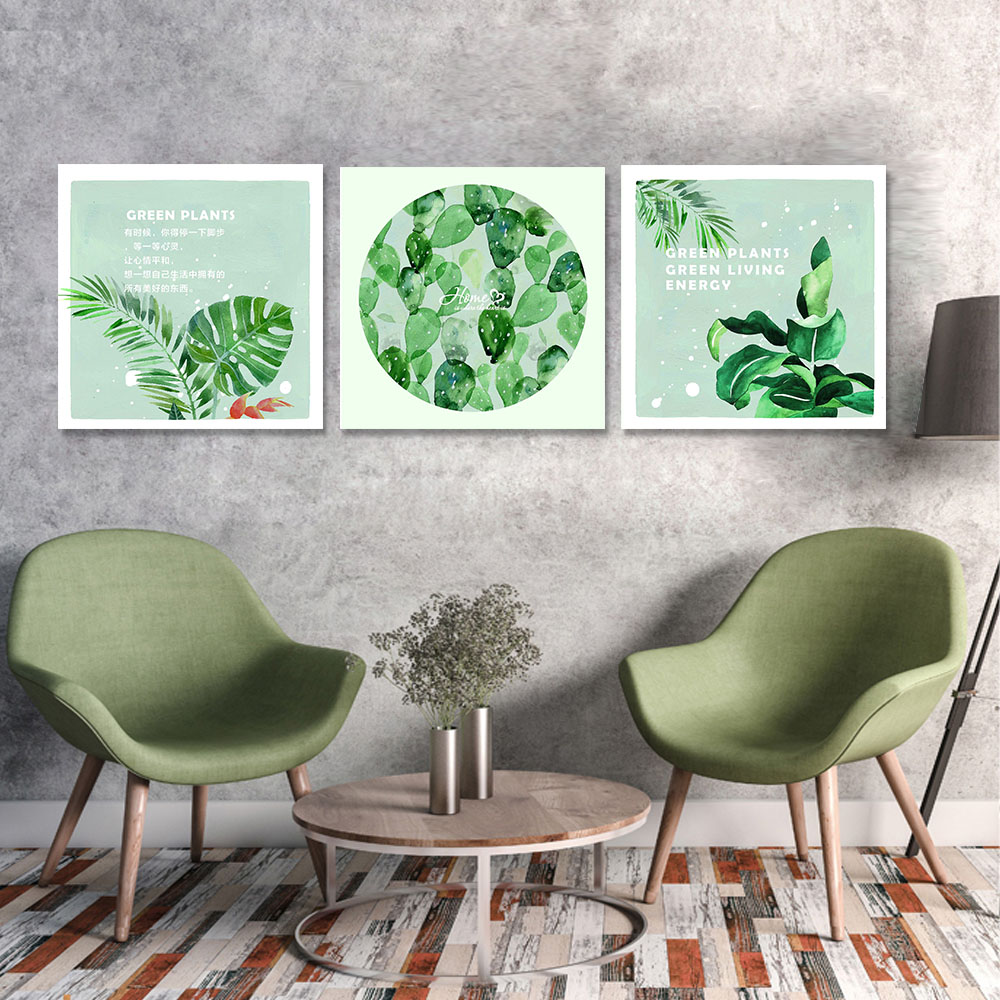 Unframed Canvas Print Painting Nordic Banana Leaf Proverb Plant Leaves Print Wall Picture For Living Room Wall Art Decoration