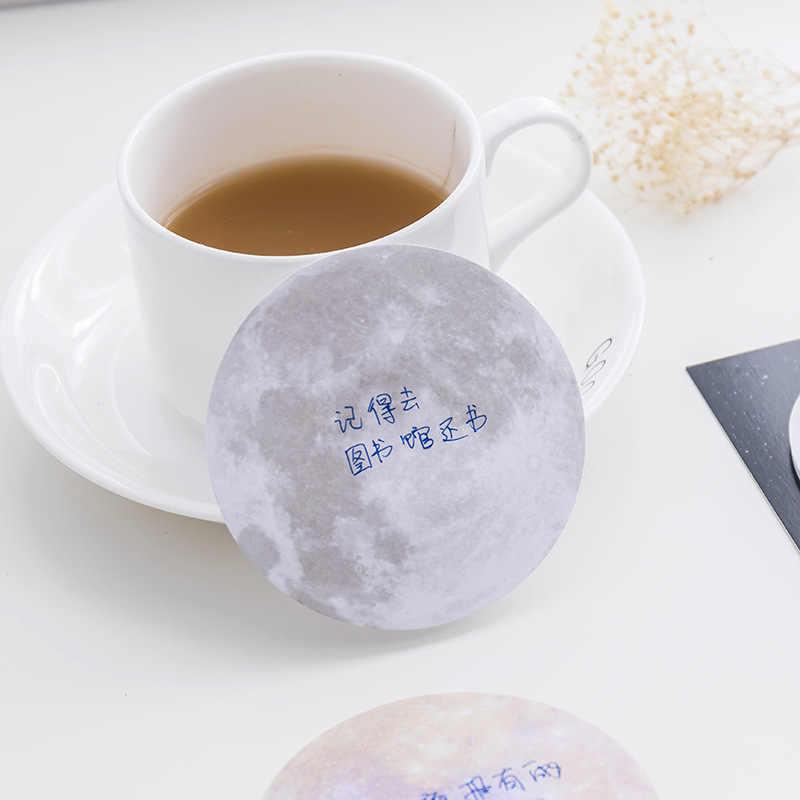 Giappone e Corea Del Sud di cancelleria creativo serie pianeta Post-it note rotonda può essere strappato a segno un piccolo libro ufficio nota N pasta