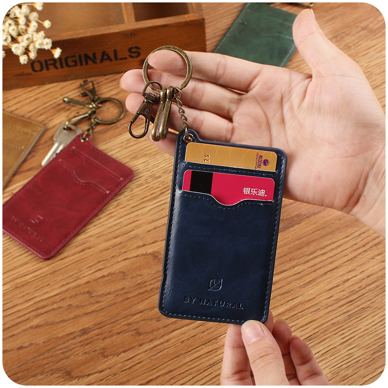 Leather Key Ring Wallet Credit ID Card Holder Credit Card Wallet Women  Business Namecard Wallet-in Card   ID Holders from Luggage   Bags on  Aliexpress.com ... b189fff7aa9e