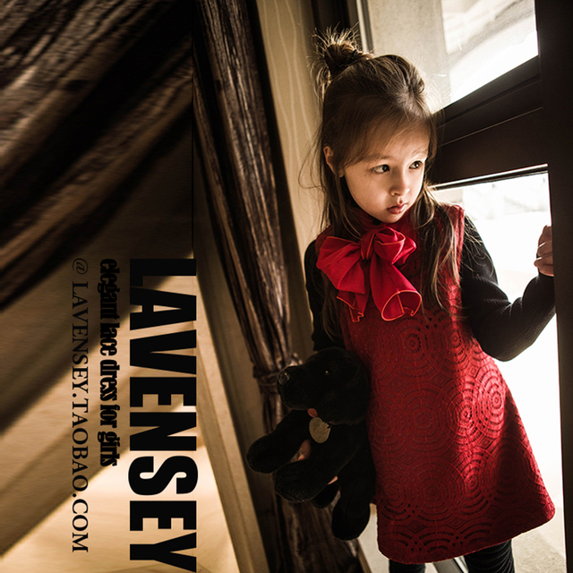Lavensey/Элегантные Осеннее платье для девочек без рукавов теплые платья для маленьких девочек большой Одежда с бантиками для девочек звезды темперамент платье для девочек