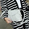 Bags Women Handbag 2017 Autumn Rivets Bag Vintage Mini-package Small Shoulder Oblique Package Collapse