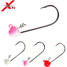 XTS Fishing Lures Lead Jig Head 50mm 7.5g 3 Pieces/Bag Carbon Steel Fishhook Colors With Sharp Hooks Jerkbait Fish Tackle 3307