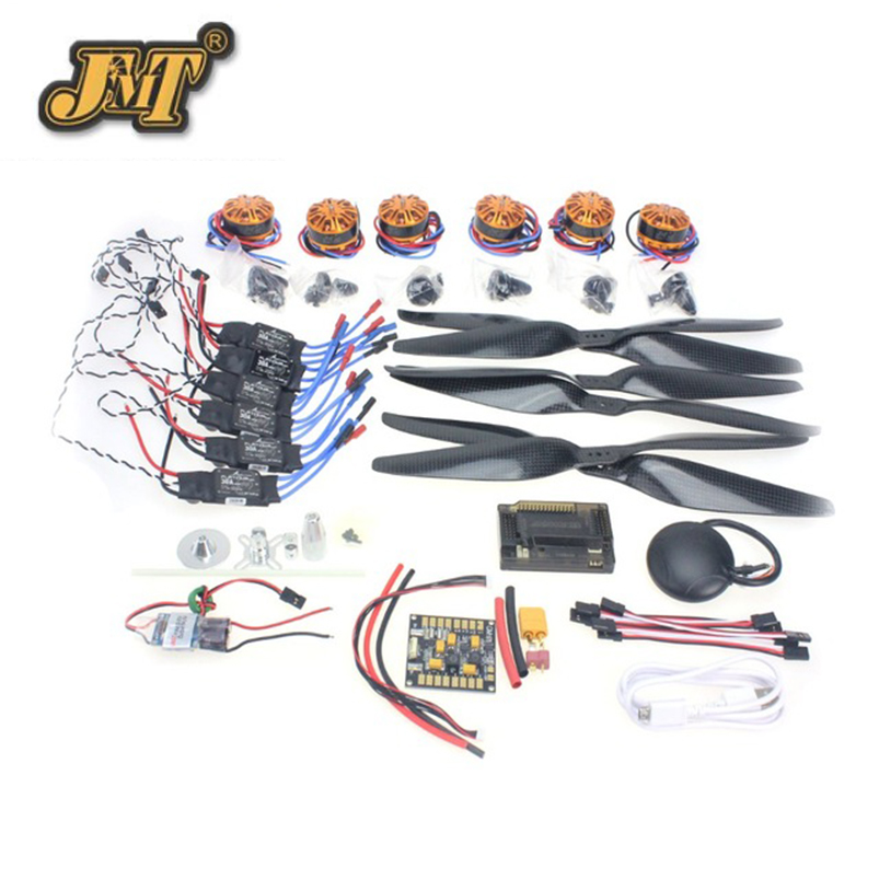 JMT RC HexaCopter Aircraft Electronic Kit :700KV Brushless Motor 30A ESC 1255 Propeller GPS APM2.8 Flight Control DIY Drone rc hexacopter six axis aircraft electronic 700kv brushless motor 30a esc 1255 propeller gps apm2 8 flight control f15276 a