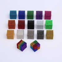 216 stücke 5mm Magie Magnet Blöcke Magnetische kugeln Neo Cube Metall Box Paket