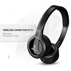 Image 4 - Professional Wireless TV Headset Stereo Headphones with transmitter Home FM Radio TV Over ear Headset For Computer Phone MP3