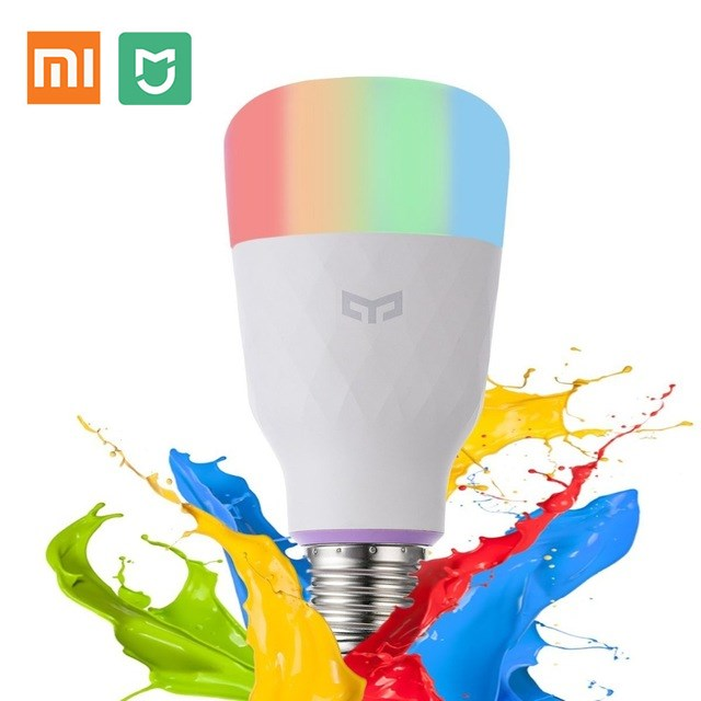 2019 Global Version Xiaomi Yeelight Smart LED Bulb (Color) Smart Phone WiFi Remote Control E27 800 lm Mi Light 10W Xiaomi Mijia2019 Global Version Xiaomi Yeelight Smart LED Bulb (Color) Smart Phone WiFi Remote Control E27 800 lm Mi Light 10W Xiaomi Mijia