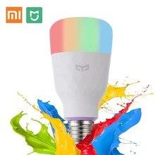 2019 Глобальный Версия Сяо mi Yeelight Smart Светодиодный лампы (Цвет) смартфон Wi-Fi пульт дистанционного Управление E27 800 lm mi свет 10 W Сяо mi Цзя