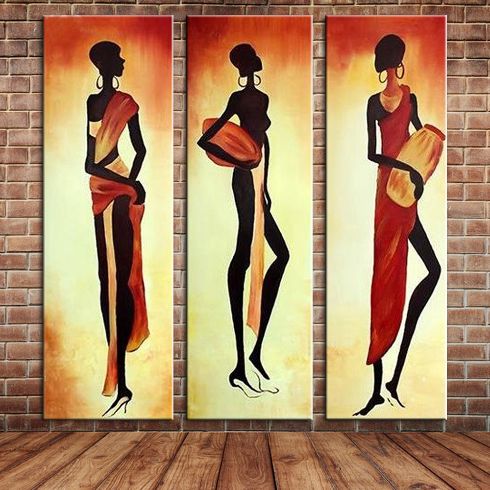Abstract African Woman Canvas Oil Painting Hand Painted Modern Large ...