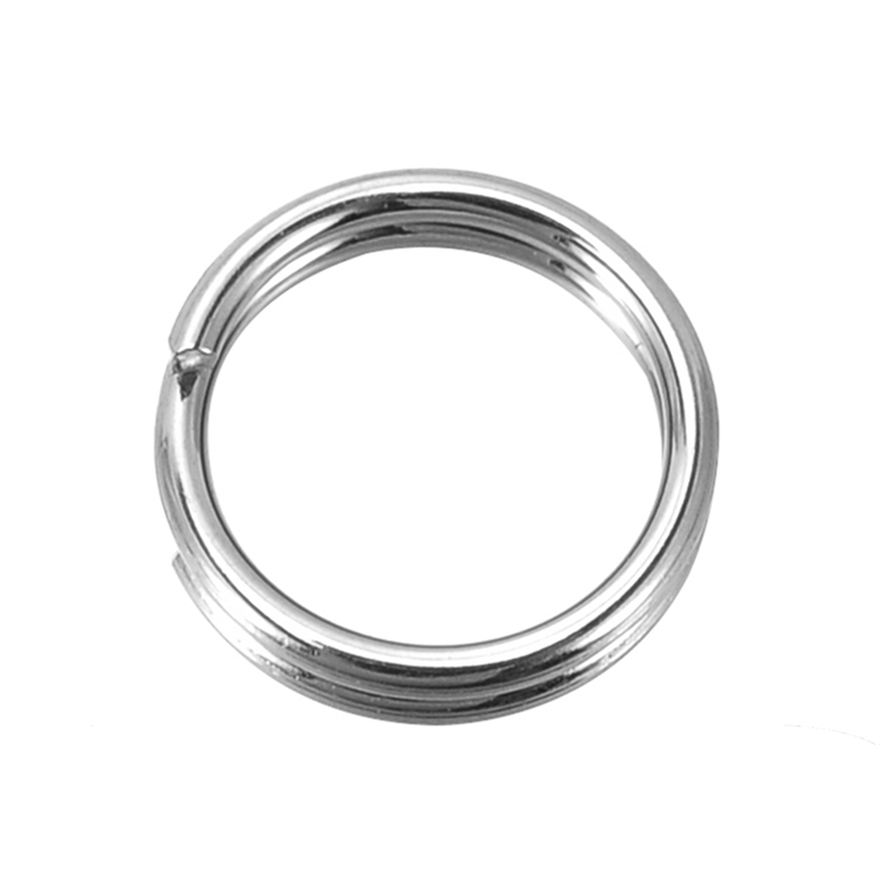 DoreenBeads Dull Silver Color Stainless Steel Split Rings 7mm, 500 PCs