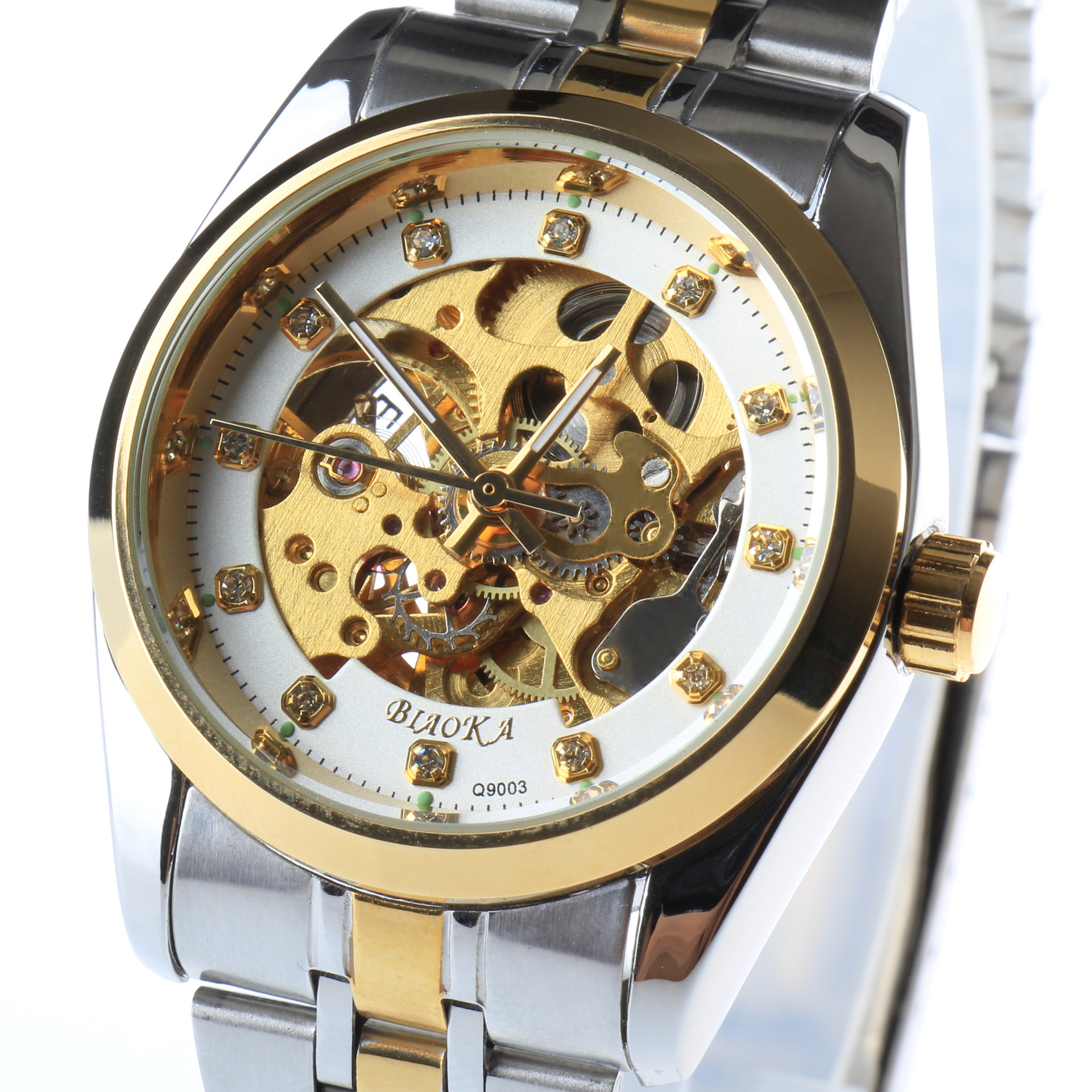 BIAOKA brand Luminous Clock Men Automatic Mechanical Watch Skeleton Military Relogio Male Montre men Casual Clock