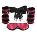 Smspade 2017 luxury 4pieces/lot pink PU under bed  bondage kit, bedroom restraints kit, sex erotic  bondage adult products