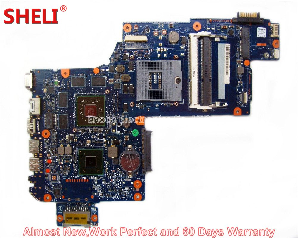 SHELI NEW H000038250 Laptop Motherboard For Toshiba Satellite C870 C875 L870 L875 PLF/PLR/CSF/CSR SLJ8E HM76 HD7670M 216-0833000 new h000041510 laptop motherboard for toshiba satellite c870 l870 17 3 7610m hd4000 ddr