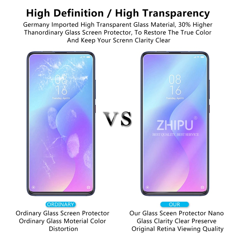 "Image 5 - 2 Pcs Tempered Glass For Xiaomi Mi 9T Screen Protector 2.5D 9H Tempered Glass For Xiaomi Mi 9T Pro Mi9T Protective Film 6.39""-in Phone Screen Protectors from Cellphones & Telecommunications"